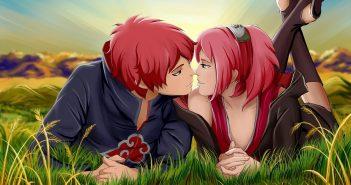 Hình nền anime tình yêu lãng mạn