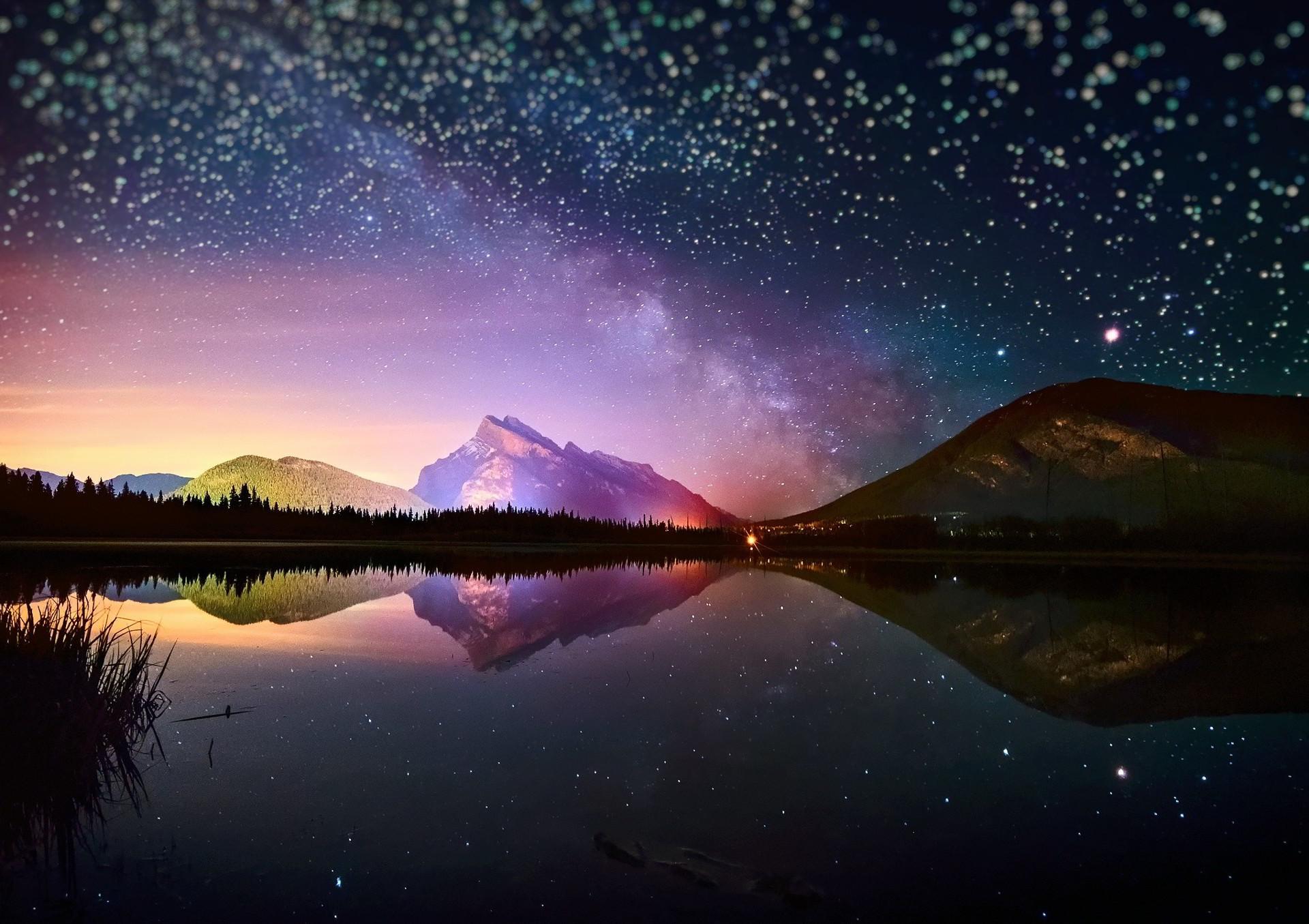 hình nền bầu trời đêm đầy sao