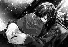 Hình nền anime buồn khóc cô đơn