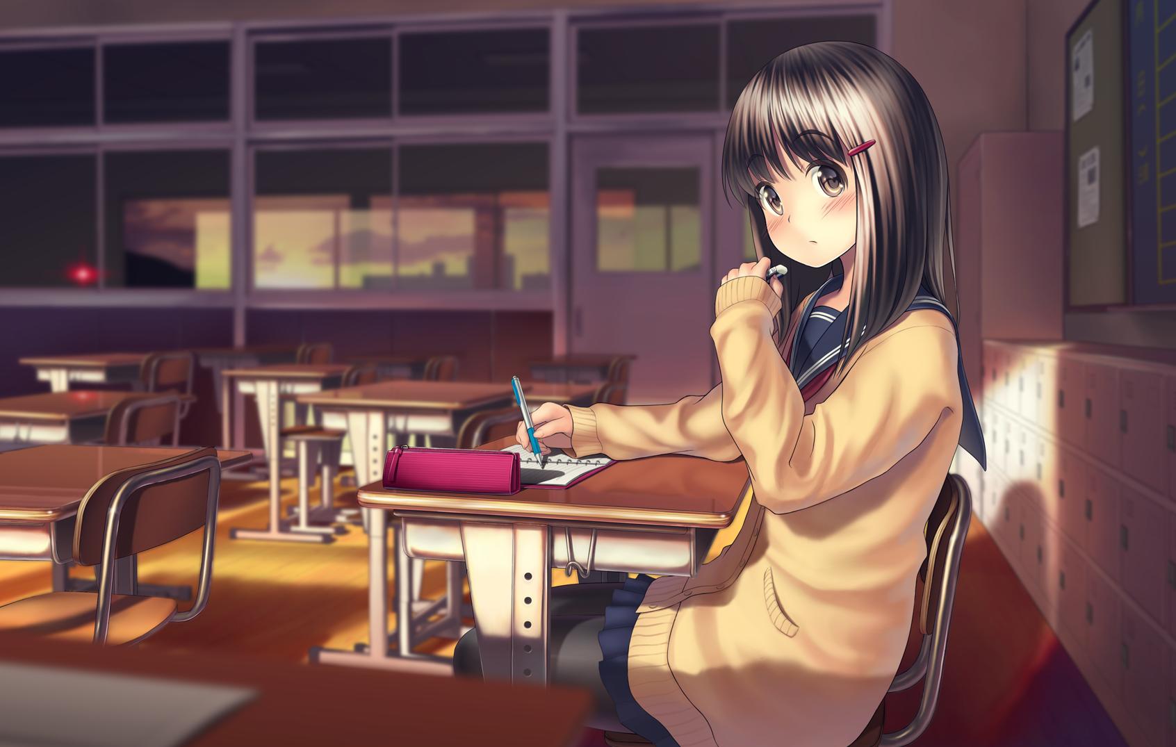hinh nen anime girl dang yeu 19