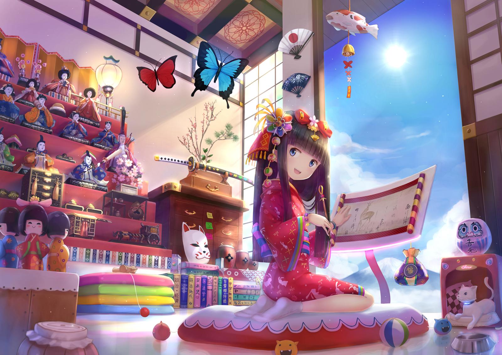 hinh nen anime girl dang yeu 24