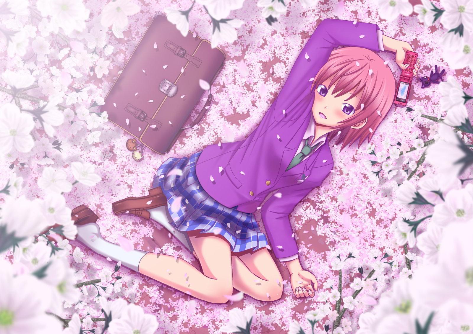 hinh nen anime girl dang yeu 4