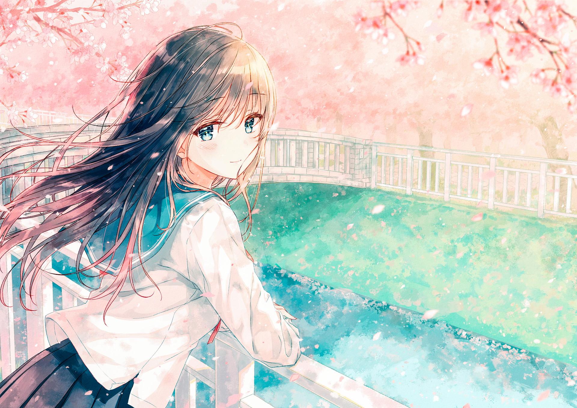 hinh nen anime girl dang yeu 40