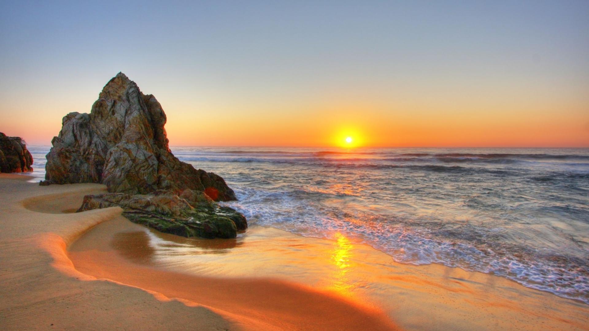 cảnh hoàng hôn biển đẹp