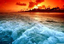 hình ảnh hoàng hôn trên biển
