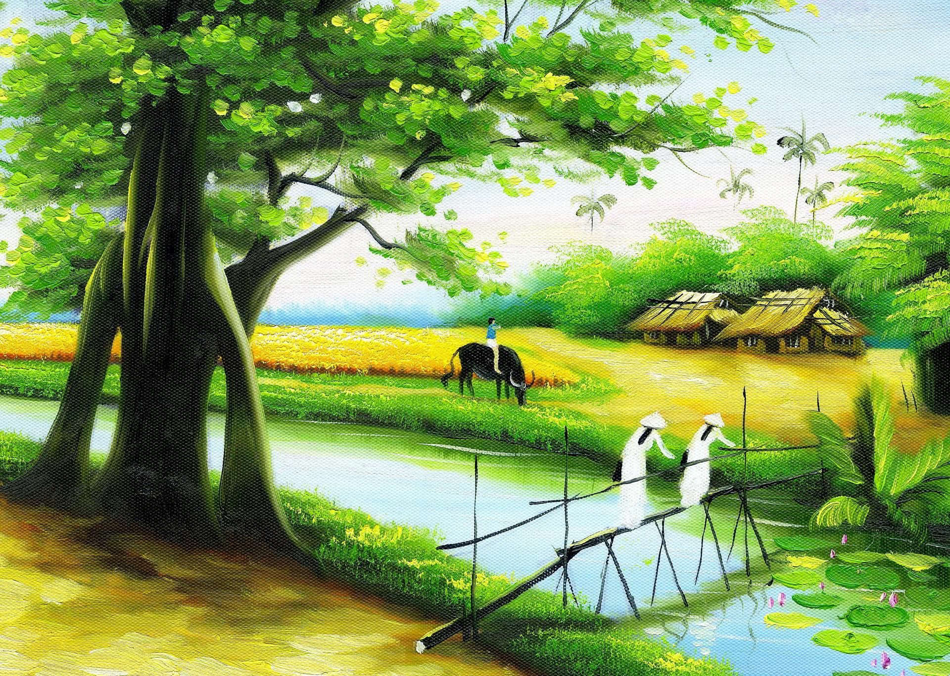 hình ảnh nông thôn việt nam