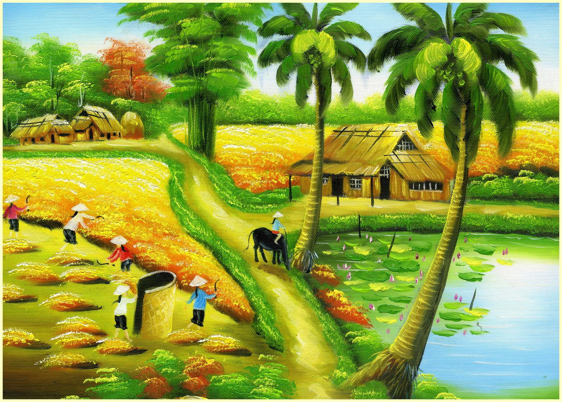 tải ảnh làng quê đẹp