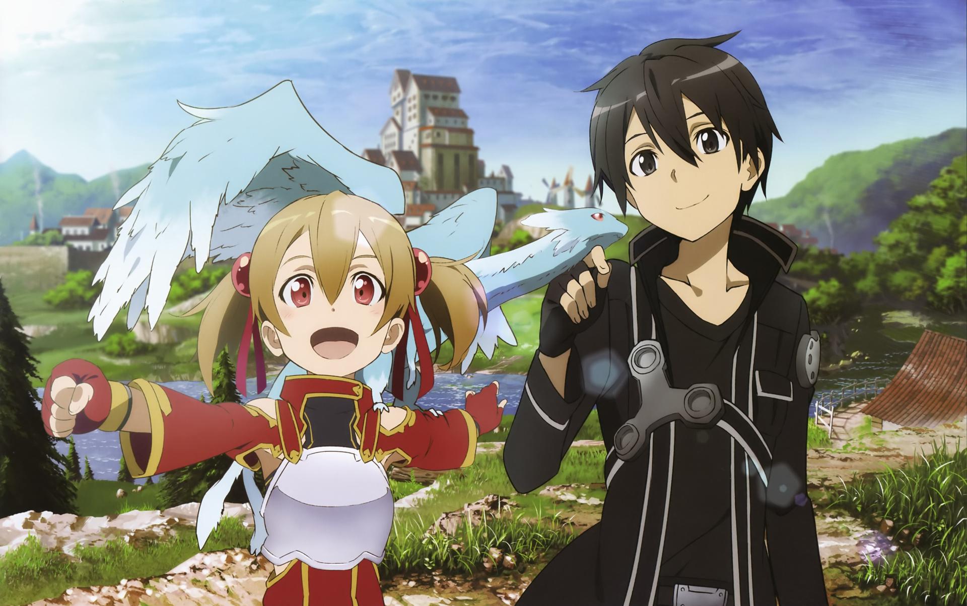 tải hình nền Kirito và asuna