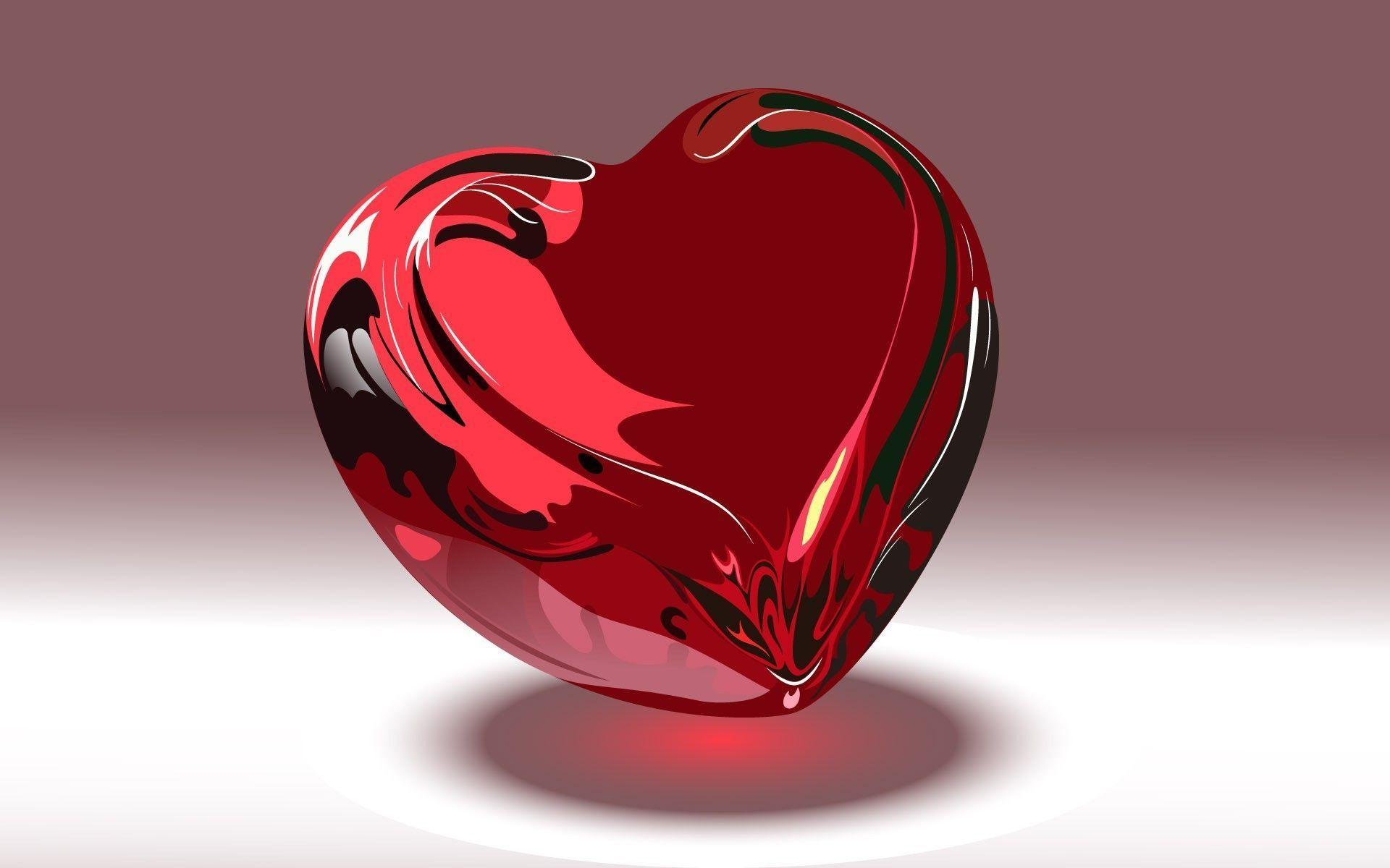 hình nền trái tim 3d