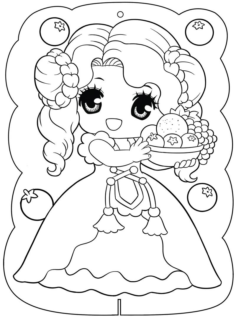 Tranh tô màu công chúa xinh xắn