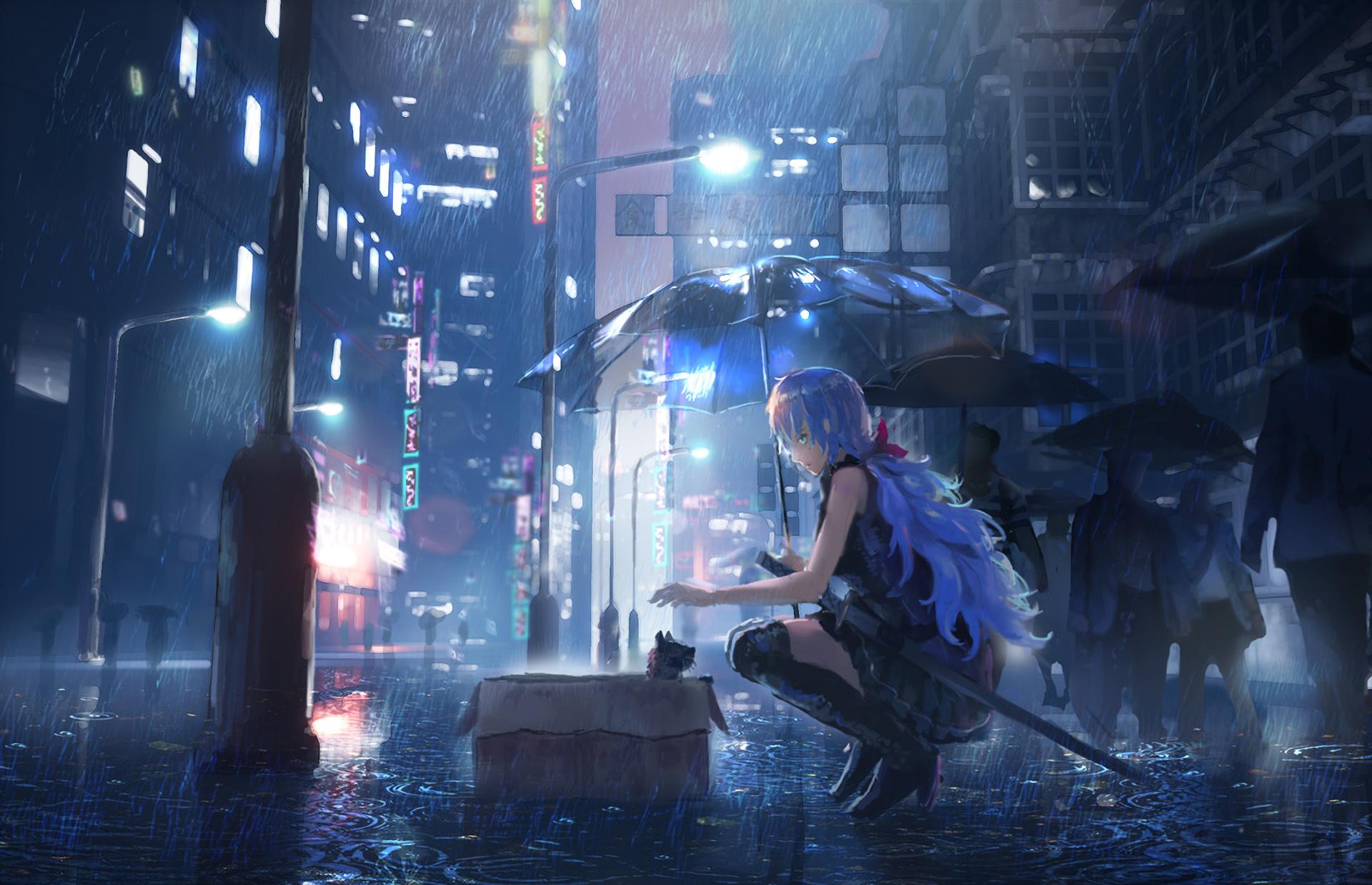 xem ảnh mưa buồn