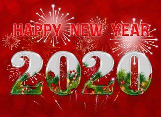 Hình nền chúc mừng năm mới 2020
