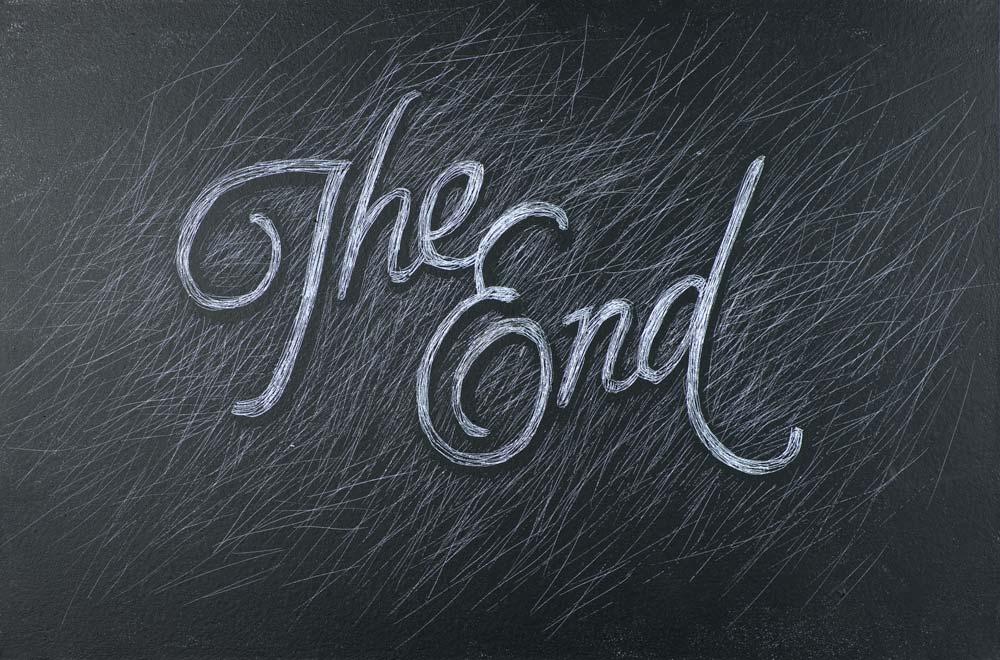 Hình nền kết thúc powerpoint : The End