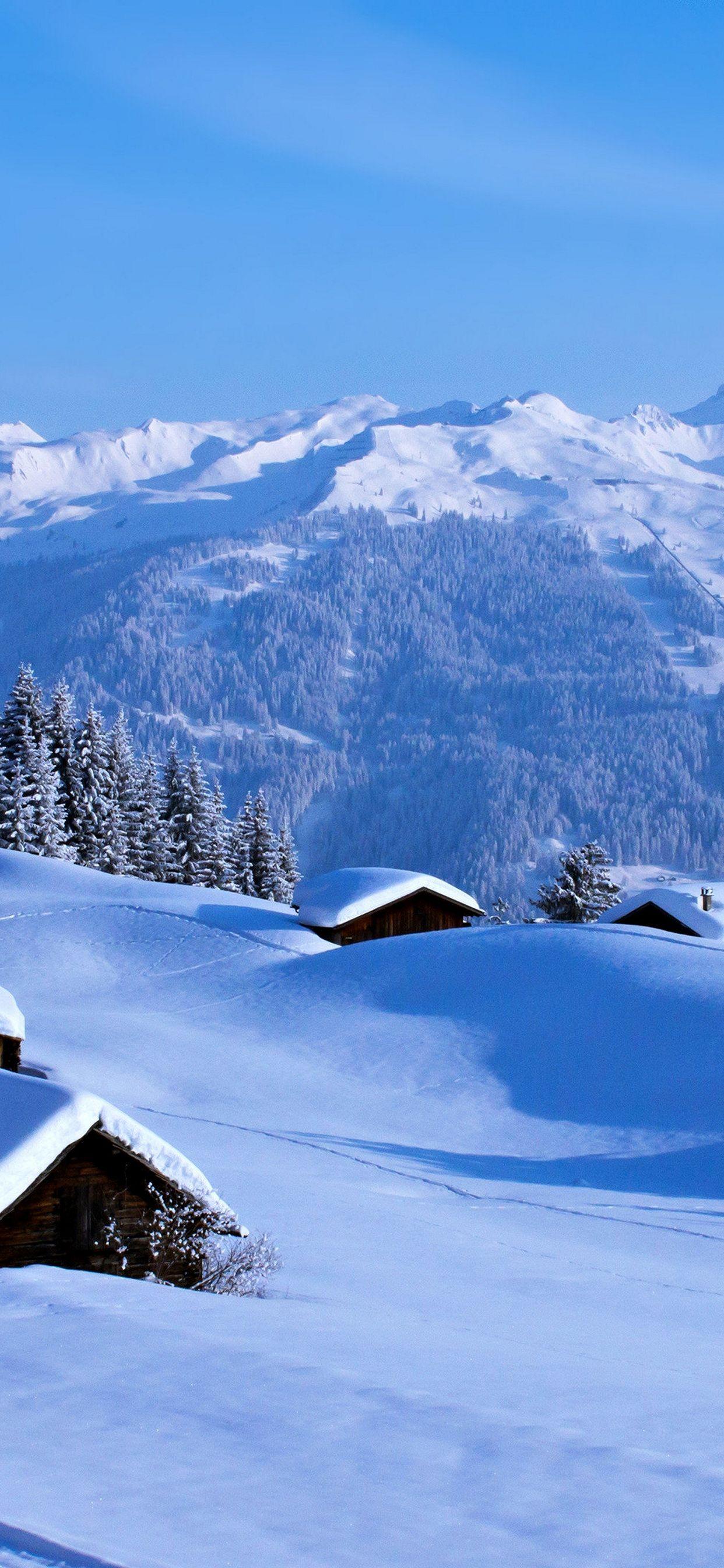 Hình nền iPhone XS Max thiên nhiên mùa đông
