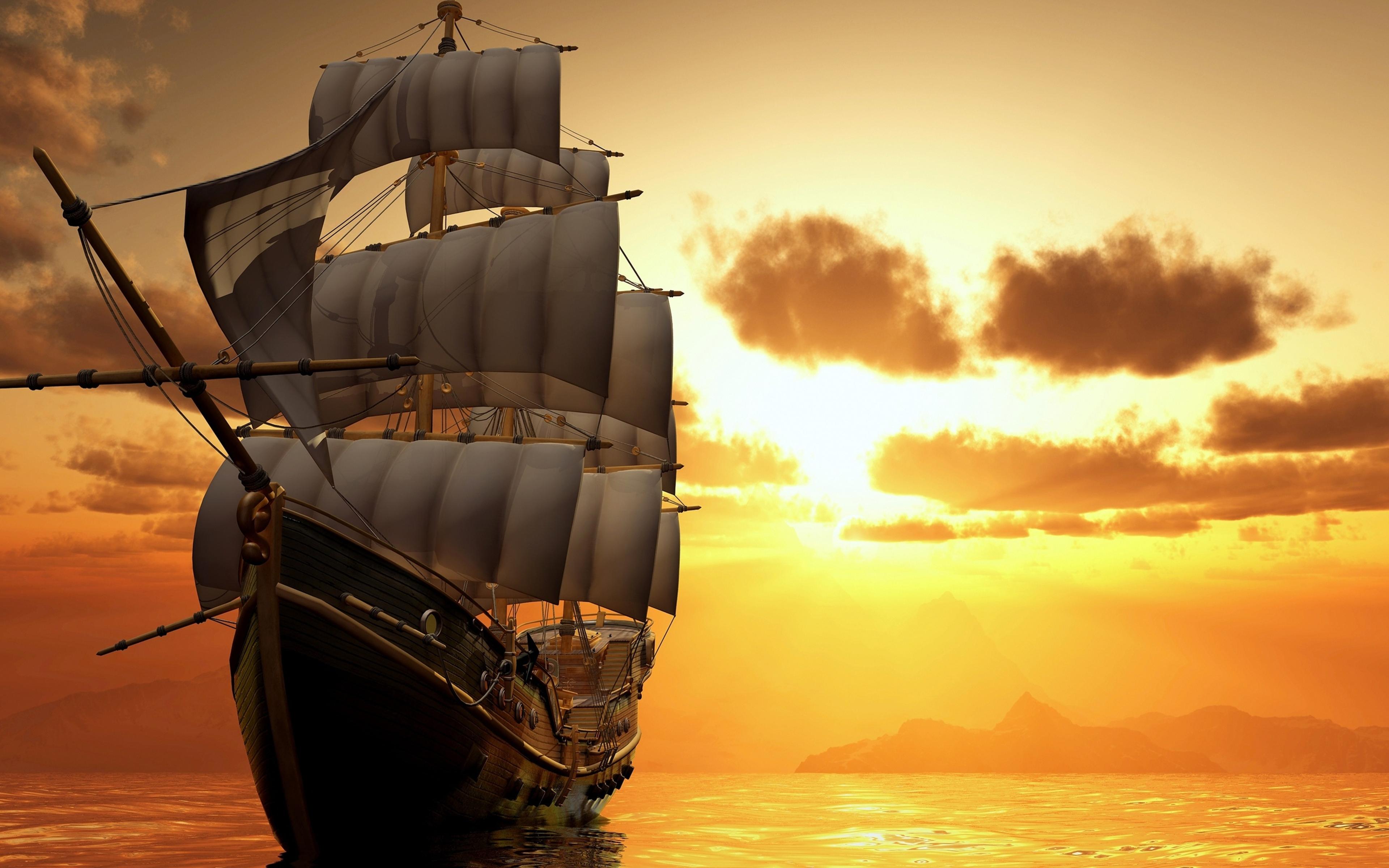 Tải ảnh thuyền buồm lúc bình minh