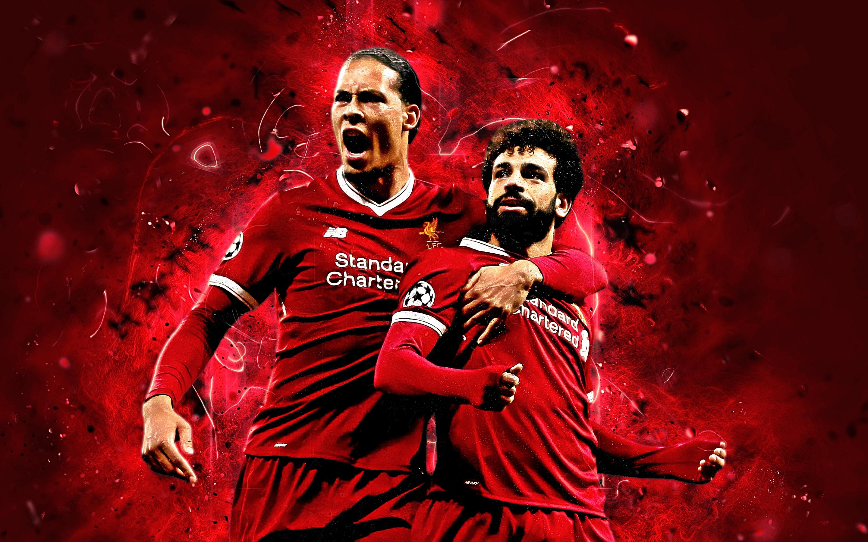 Hình ảnh đẹp của Van Dijk và Salah