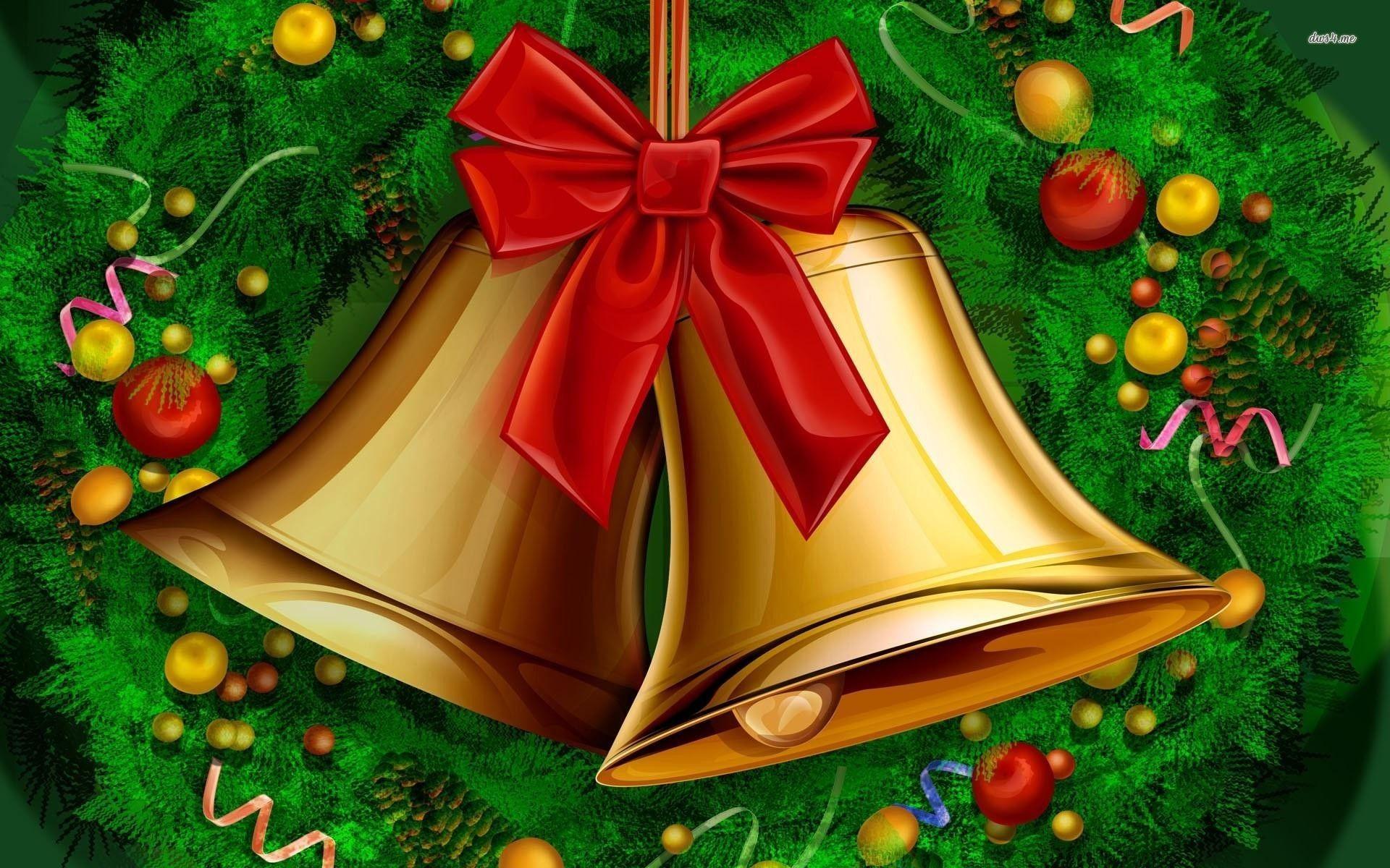 Hình nền Chuông Thánh Đường đẹp cho ngày lễ giáng sinh