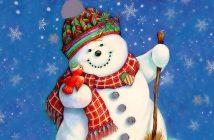 Hình ảnh người tuyết dễ thương