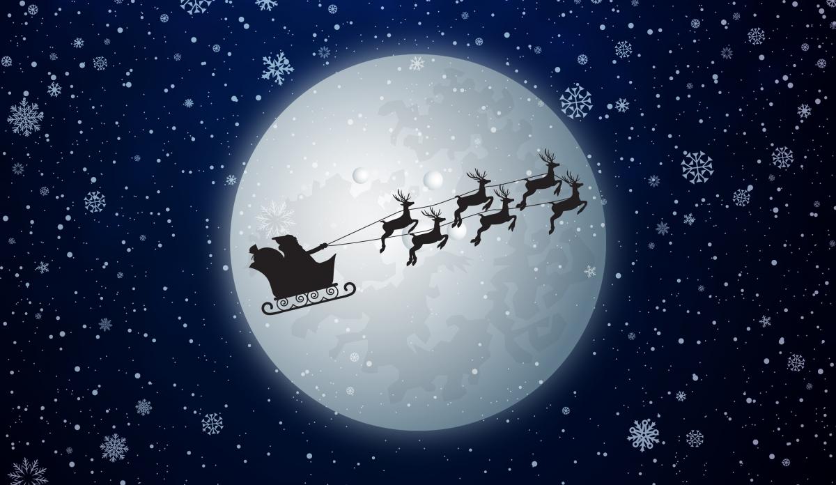 Hình nền ông già Noel và những chú tuần lộc